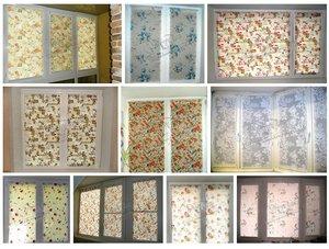 Рулонные шторы из тканей с цветочным рисунком. Фото наших работ!