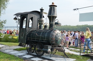 Кованый мангал-паровоз