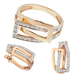 Золотые кольца и серьги