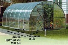 Теплица в Ставрополе под поликарбонатом