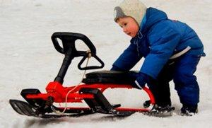 Поступление зимнего детского транспорта: от классических санок до санок-коляски и снегоката