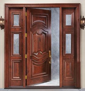 Двери из массива различных пород дерева на заказ