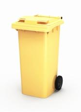 Пластиковый мусорный контейнер 240 литров Желтый