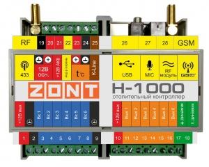 Контроллер отопительный ZONT H-1000
