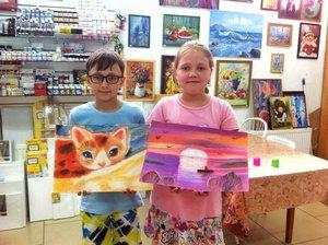 Рисуем пастелью в Палитре