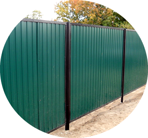 Забор из профнастила в Вологде