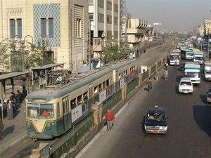 Старинный трамвай в Каире