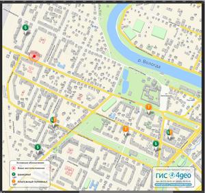 Продажа настенных карт города Череповца