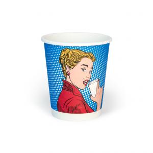 Предлагаем печать бумажных стаканов с логотипом от 2,54р/шт.