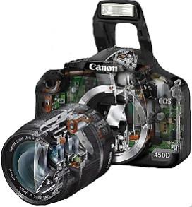 Осуществляем ремонт зеркальных фотоаппаратов CANON, NIKON, SONY и других марок