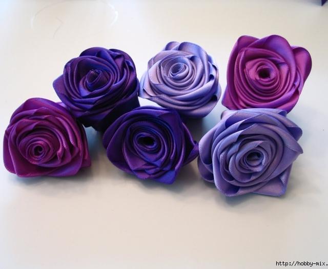Цветы из лент своими руками для браслета