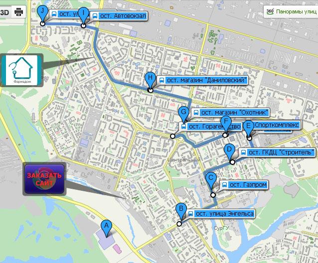 Движение маршрутных автобусов