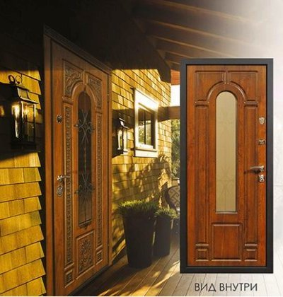 металлическая дверь для улицы внутренняя отделка