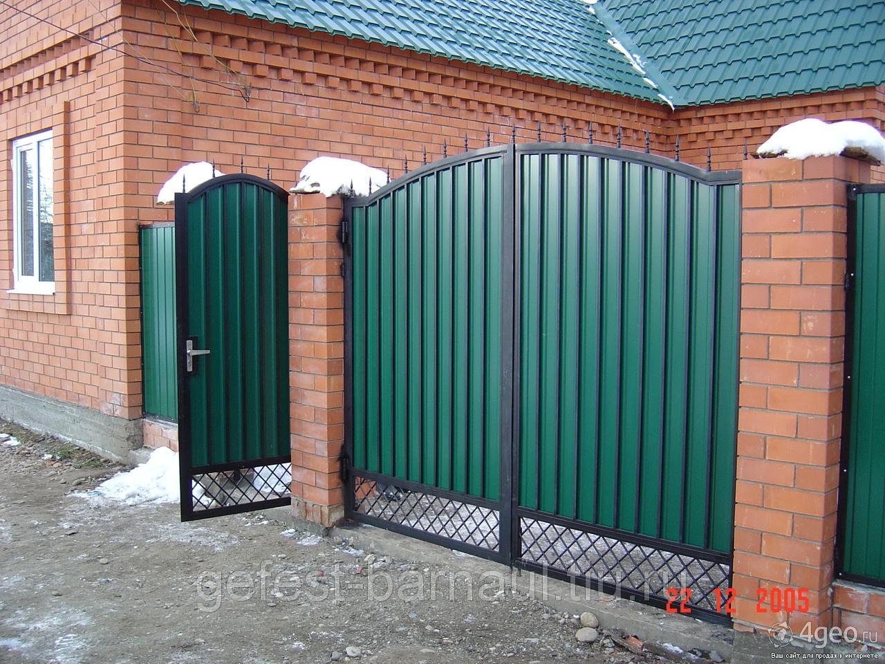 Ворота для частных домов своими руками фото