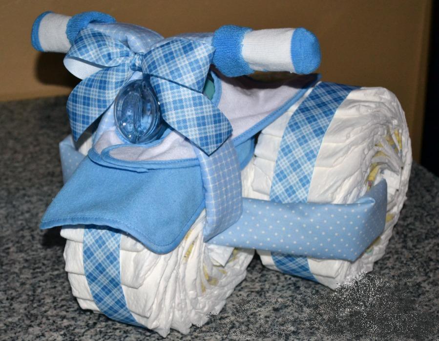 Подарок из памперсов новорожденному мальчику