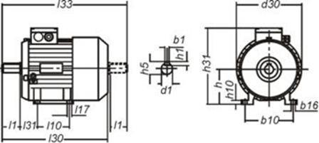 основные размеры электродвигателя