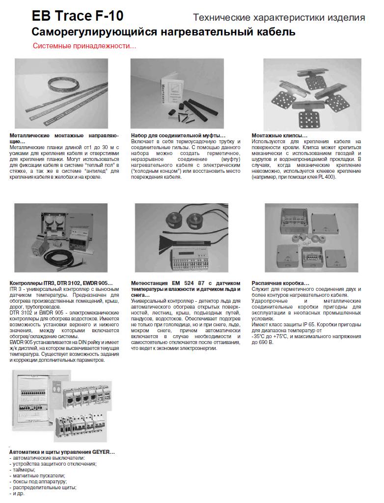 Технические характеристики изделия