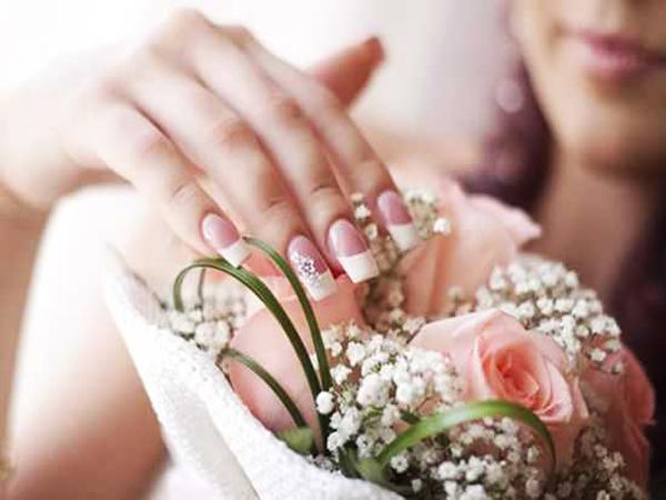 Свадебный маникюр шеллак