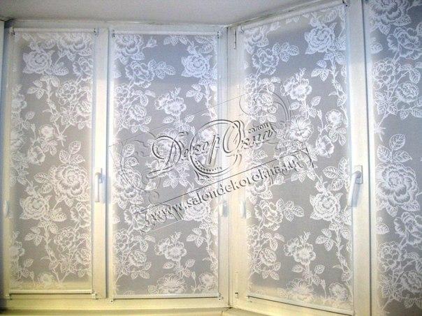 Рулонные шторы и декор