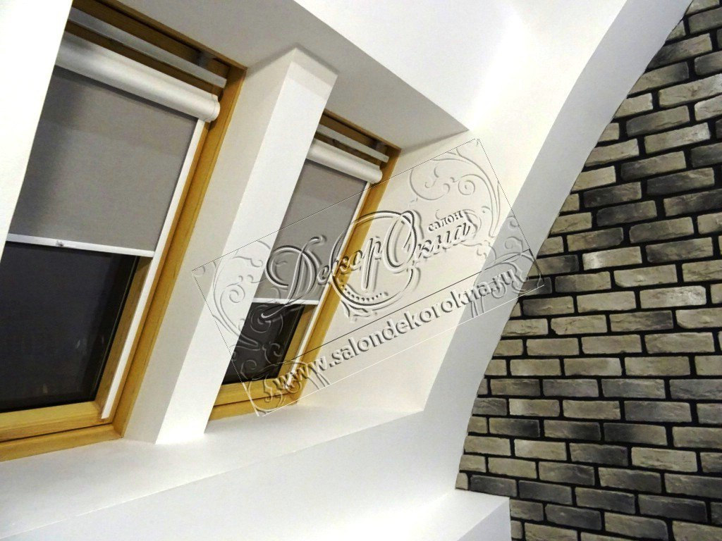 рулонные шторы для мансардного окна