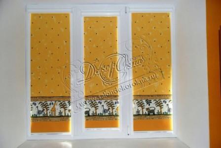 рулонные шторы уни для окон пвх