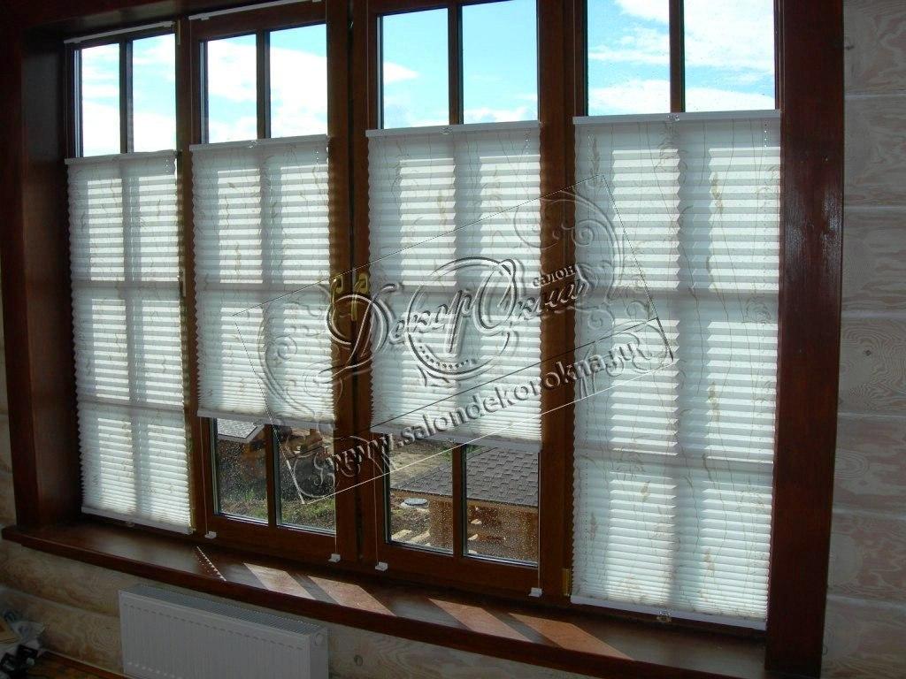плиссе на окно с панорамным остеклением