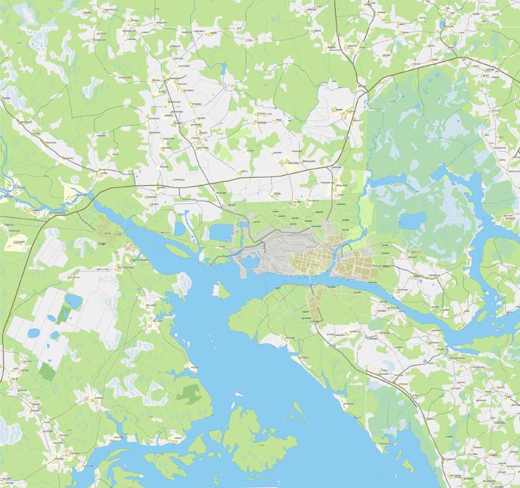 Карта дорог Череповца