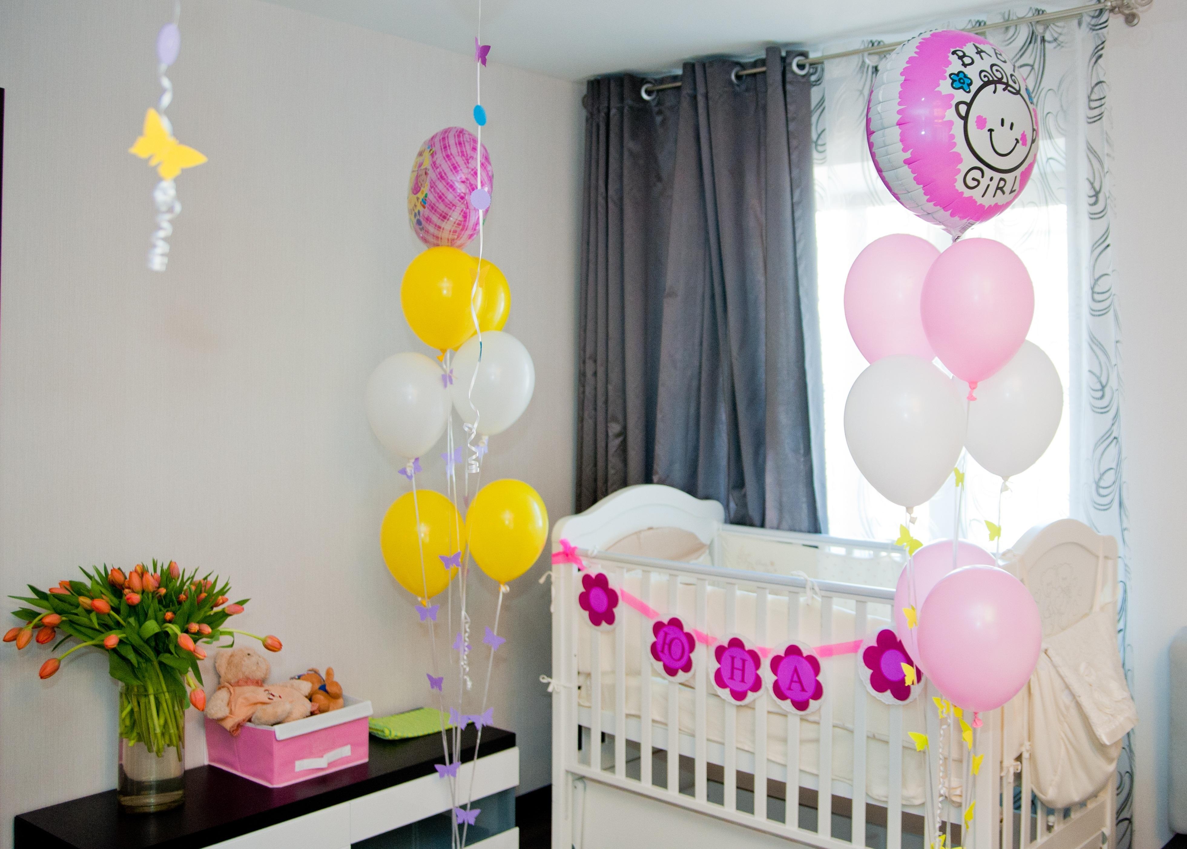 Украсить комнату на рождение своими руками
