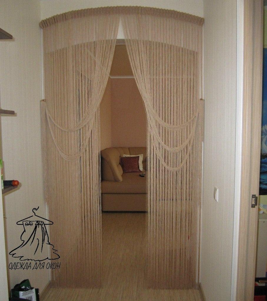 Шторы для арки дверной межкомнатной в зал или прихожую.