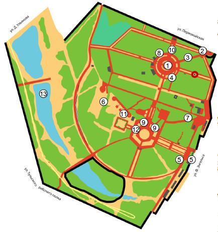 Схема размещения площадок в