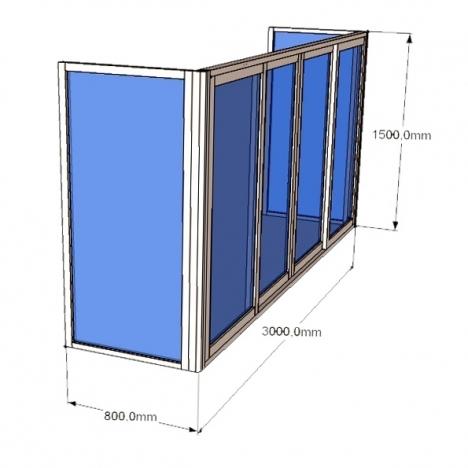 Балкон пластиковый rehau thermo пятикамерный от компании нем.