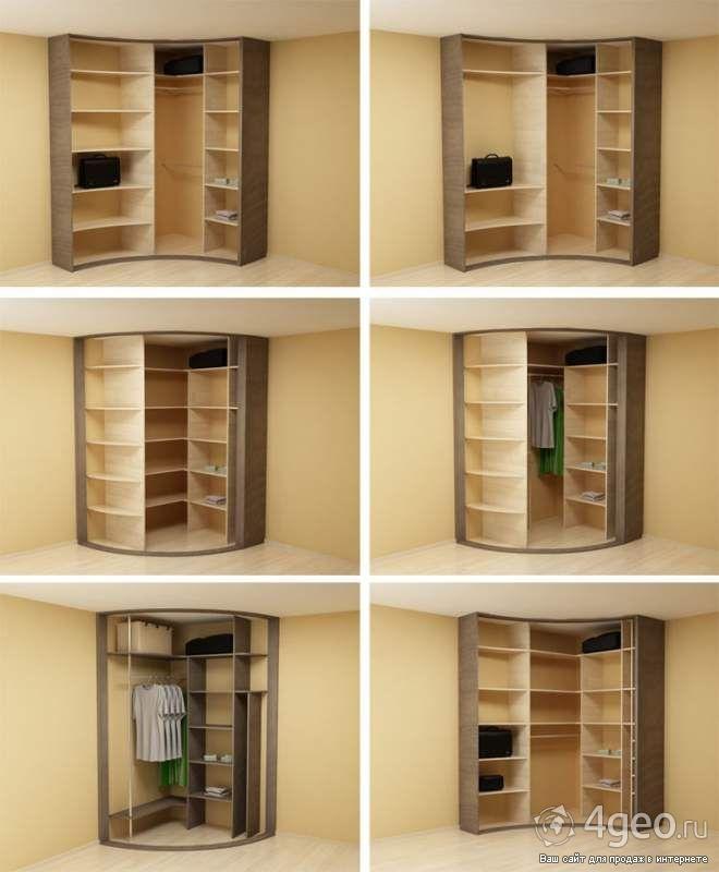 Встроенный шкаф купе угловой.