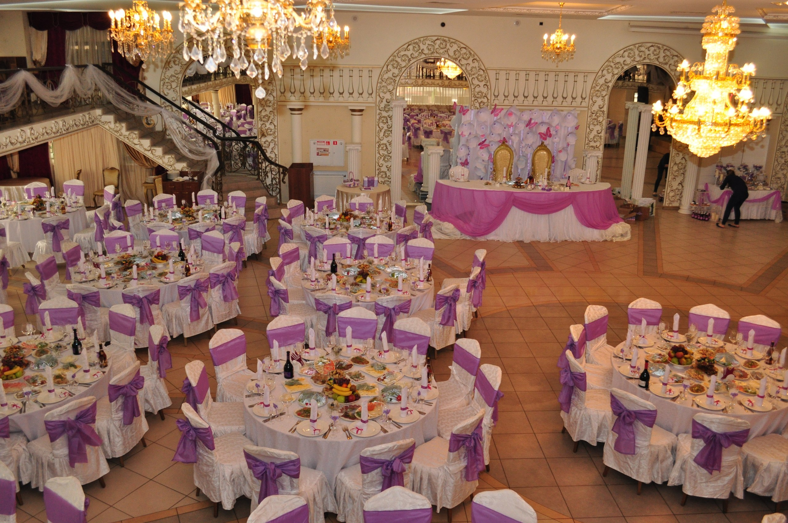 Свадьба в сиреневых тонах фото