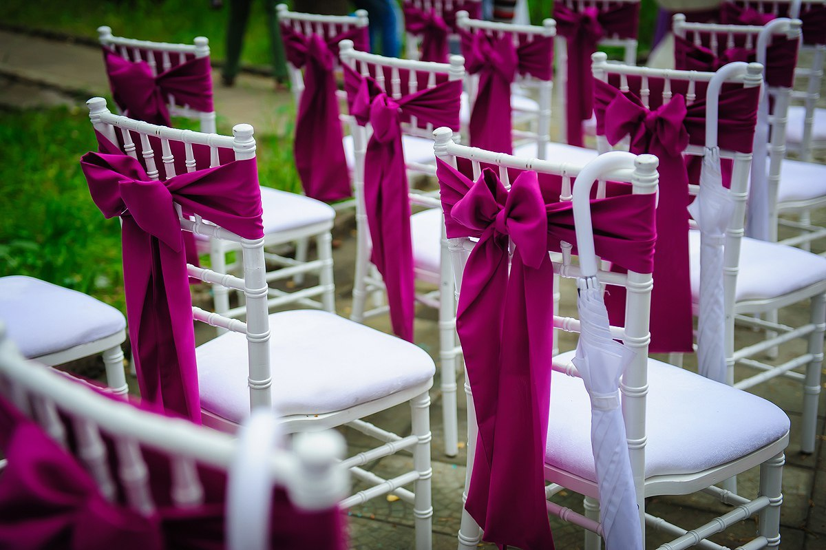 Оформление тканью стульев своими руками 8