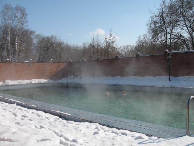 Бассейн под открытым небом - настоящая экзотика в Сибири!
