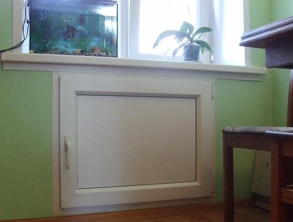 Холодильник под окном своими руками фото