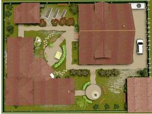 Загородный ландшафт коттеджного участка