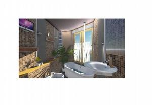 Ванная комната с водопадом