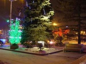 Оформление световых деревьев