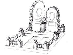 Памятники на могилу по вашему эскизу