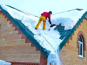 Услуги по уборке снега с крыш зданий