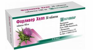 Растительный препарат для печени на основе расторопши Форливер №30