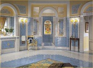Ищете плитку в ванную в Кемерово? Обратите внимание на плитку коллекции Luxor от Versace. Превратите ванную в римские бани!