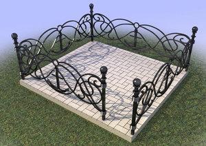 Изготовление металлических оград для кладбищ