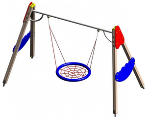 Неотъемлемый элемент детской площадки - качели!