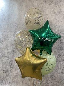Фонтан из воздушных шаров для девочки