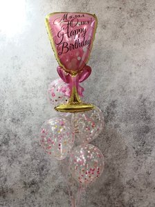 Фонтан из шаров для девушки