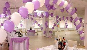 Оформление шарами праздничных залов