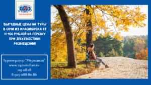 Выгодные цены на туры в Сочи из Красноярска с вылетом 08. 11 на 8 дней от 11 400 рублей на персону при двухместном размещении!