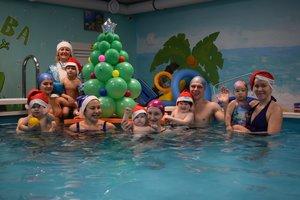 Новогодние елки в бассейне!